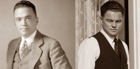 Leonardo DiCaprio y J. Edgar Hoover