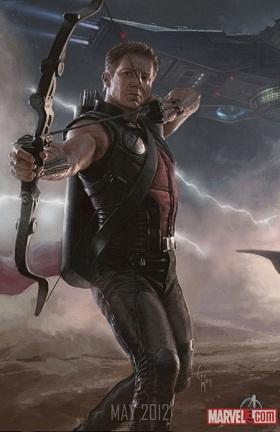 Jeremy Renner en uno de los carteles de Los Vengadores