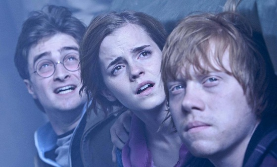 Harry, Ron y Hermione en Harry Potter y las Reliquias de la Muerte: Parte 2