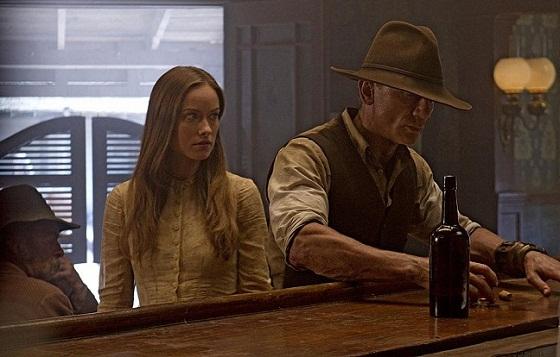 Olivia Wilde y Daniel Craig en Cowboys & Aliens