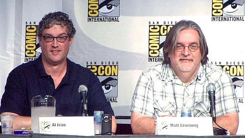 Matt Groening y Al Jean en la Comic-Con 2011