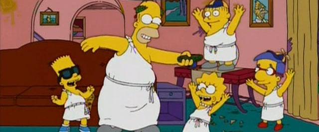 Los Simpson y Desmadre a la Americana