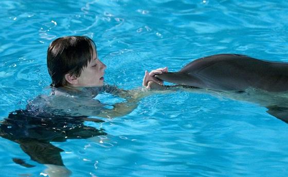Nathan Gamble y la delfina Winter