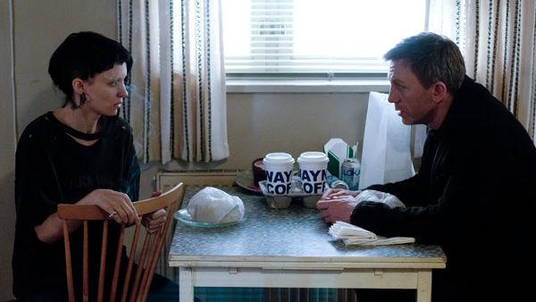 Daniel Craig y Rooney Mara en Los Hombres que no Amaban a las Mujeres