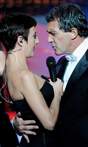 Goya 2012 / Eva Hache y Antonio Banderas