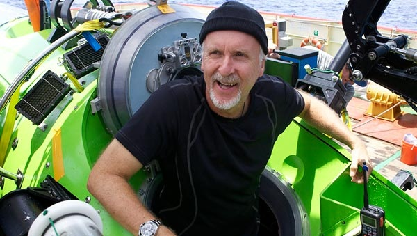James Cameron, a bordo del Vertical Torpedo