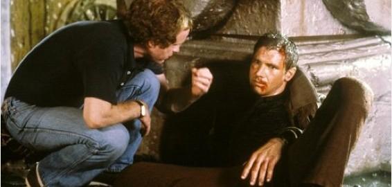 Harrison Ford y Ridley Scott en Blade Runner