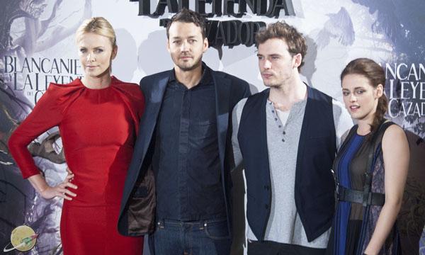 Charlize Theron, Rupert Sanders, Sam Claflin, Kristen Stewart