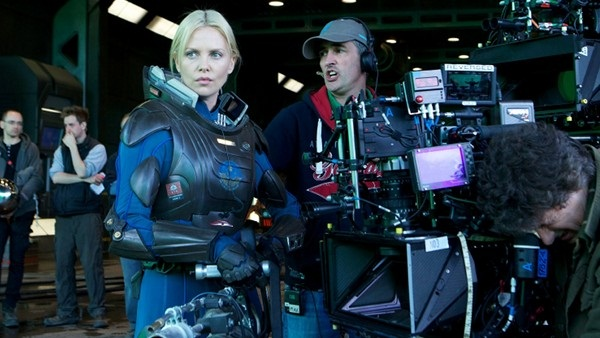 Charlize Theron en el Set de Prometheus