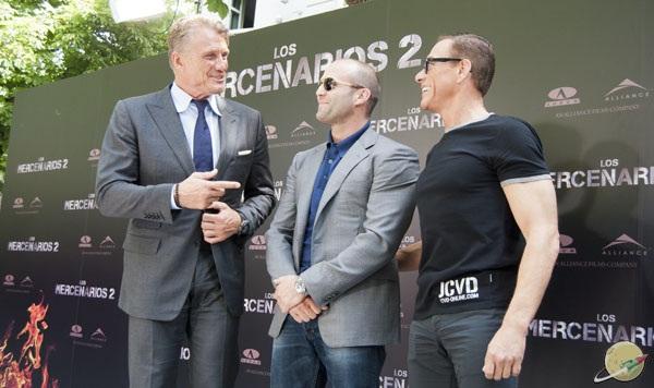 Dolph Lundgren, Jason Statham y Jean-Claude Van Damme