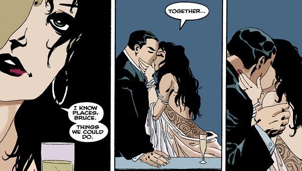 Bruce Wayne y Selina Kyle en Batman: El Largo Halloween
