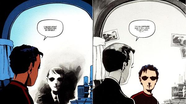 Dick Grayson y Bruce Wayne en Victoria Oscura