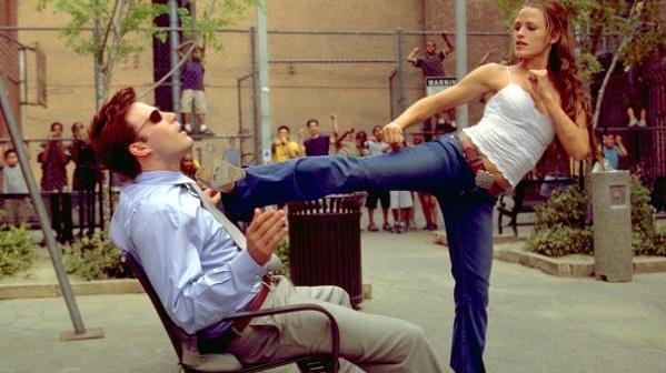 Ben Affleck y Jennifer Garner en Daredevil
