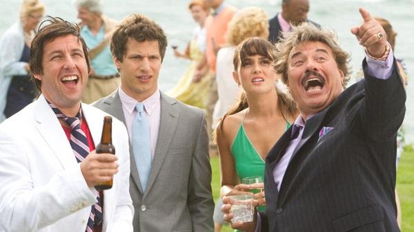 Adam Sandler, Andy Samberg, Leighton Meester y Tony Orlando en Desmadre de Padre
