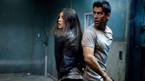 Jessica Biel y Colin Farrell en Desafío Total