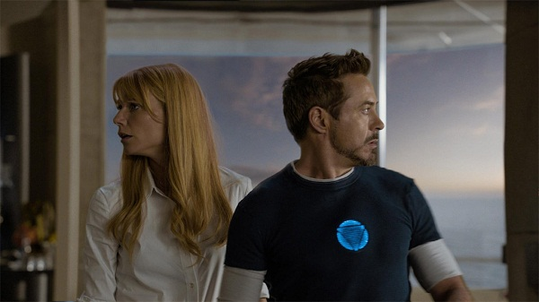 Robert Downey Jr. y Gwyneth Paltrow en Iron Man 3