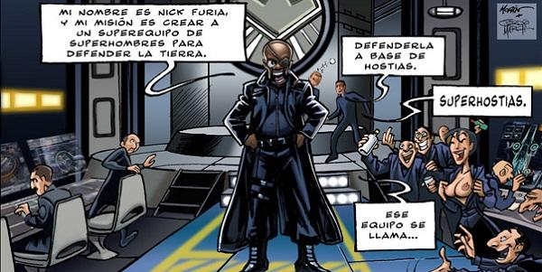 Los Vengadores en ¡Esto es Hollywood!, de Jordi March