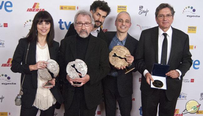 José María Forqué / Maribel Verdú, Pablo Berger y José Sacristán