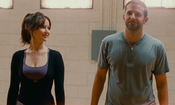 Bradley Cooper y Jennifer Lawrence en El Lado Bueno de las Cosas