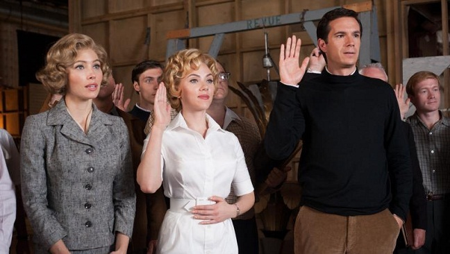Jessica Biel, Scarlett Johansson y James D'Arcy en Hitchcock