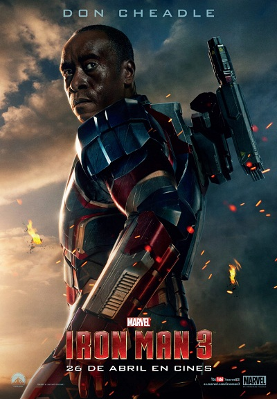 Don Cheadle como Iron Patriot en Iron Man3