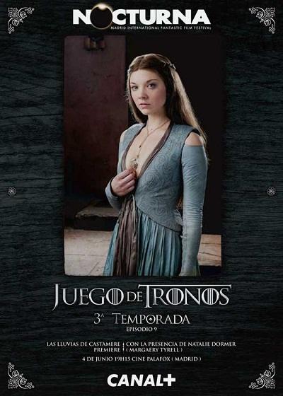 Natalie Dormer como Margaery Tyrell en Nocturna 2013