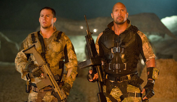 Dwayne Johnson y Channing Tatum en GI Joe: La venganza