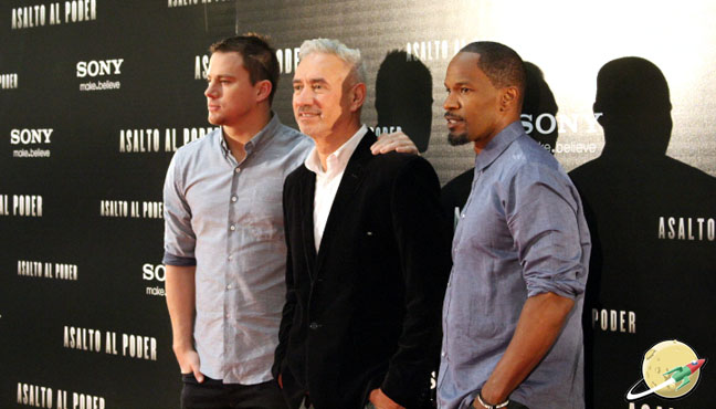 Roland Emmerich, Channing Tatum y Jamie Foxx