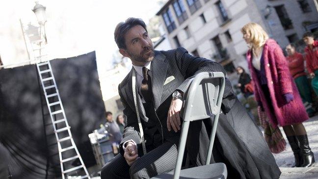Antonio de la Torre en el rodaje de Caníbal