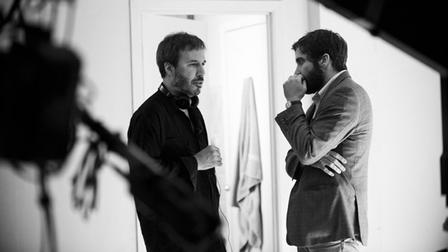 Denis Villeneuve y Jake Gyllenhaal en el rodaje de Enemy