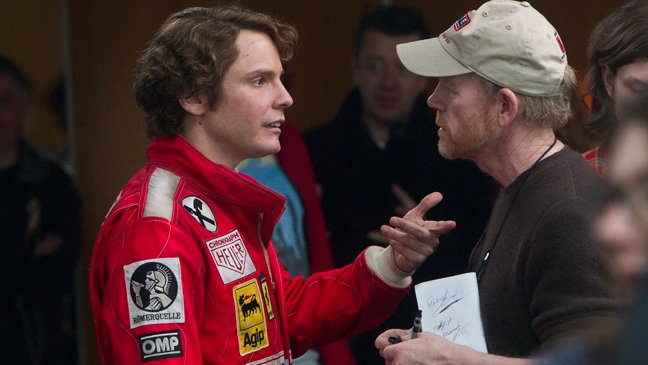 Daniel Brühl y Ron Howard en Rush