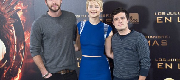 Jennifer Lawrence, Josh Hutcherson y Liam Hemsworth