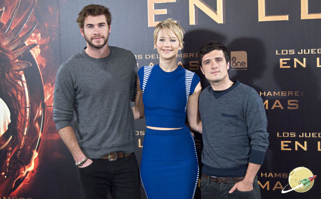 Jennifer Lawrence, Josh Hutcherson y Liam Hemsworth