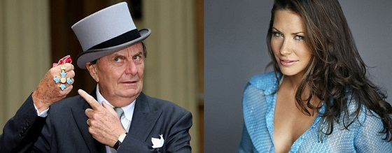 Barry Humphries y Evangeline Lilly