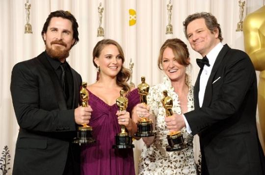 Christian Bale, Natalie Portman, Melissa Leo y Colin Firth