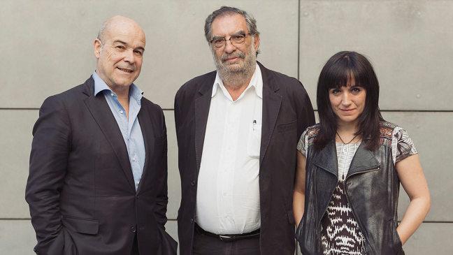 Antonio Resines, Enrique González Macho y Judith Colell
