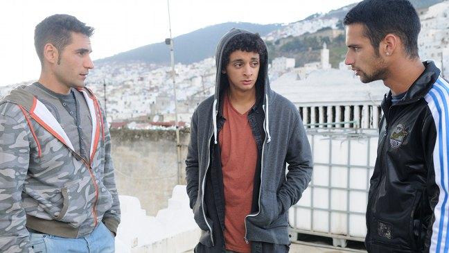 Jesús Carroza, Saed Chatiby y Jesús Castro en El niño