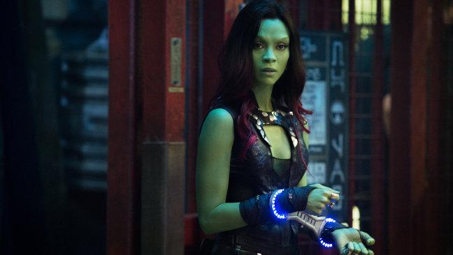 Zoe Saldana en Guardianes de la Galaxia