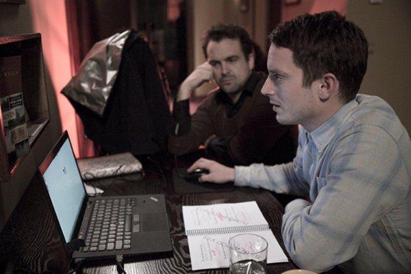 Nacho Vigalondo y Elijah Wood en Open Windows