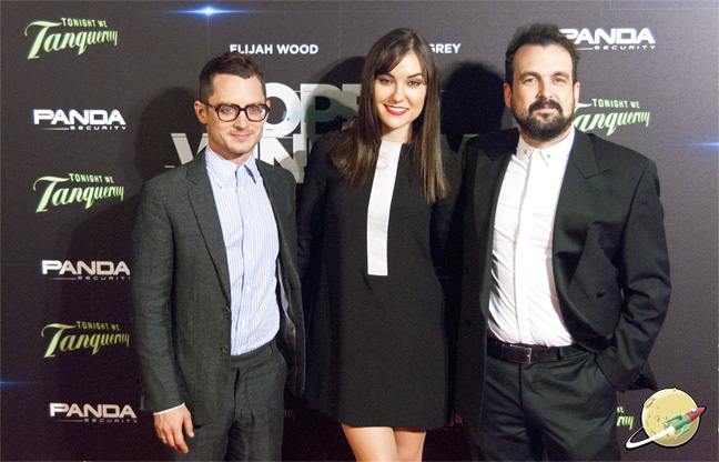 Nacho Vigalondo, Elijah Wood y Sasha Grey
