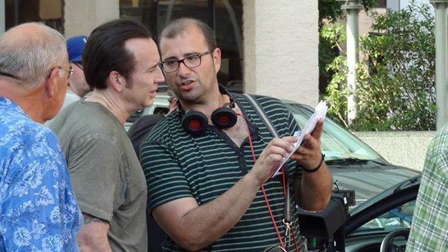 Paco Cabezas y Nicholas Cage en el set de Tokarev