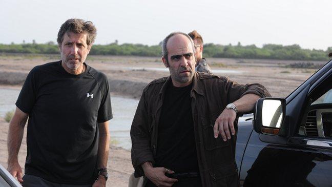Emilio Aragón y Luis Tosar en el set de Una noche en el viejo México