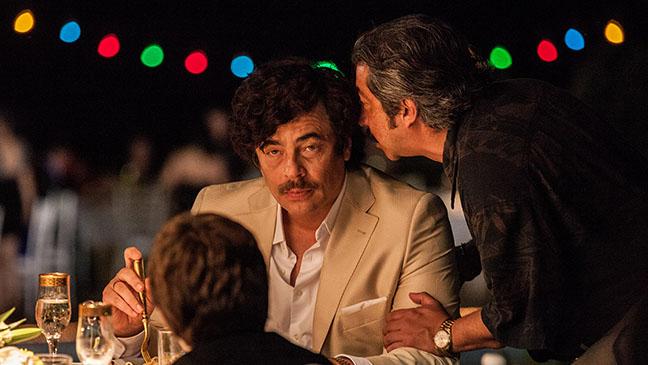 Del Toro como Pablo Escobar