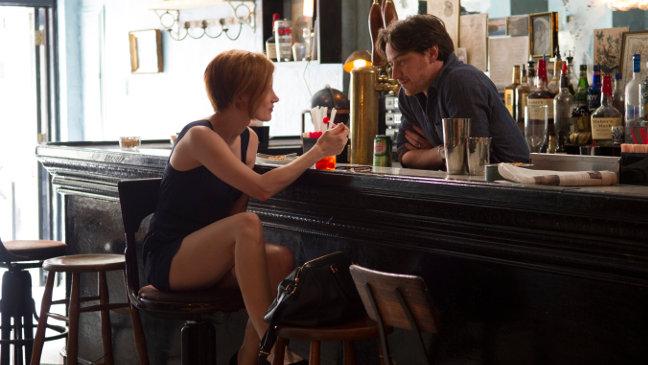 Chastain y McAvoy en La desaparición de Eleanor Rigby