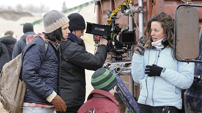 Llosa con Jennifer Connelly en el rodaje de No llores, vuela. Jose Haro