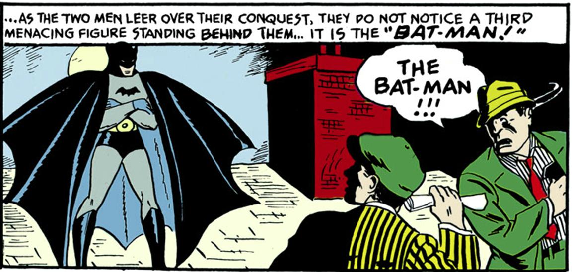Una viñeta del primer número de Batman