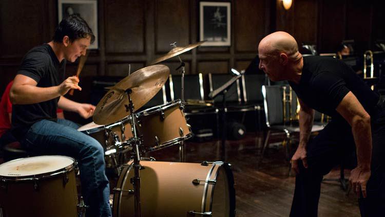 Miles Teller frente a J.K. Simmons en Whiplash