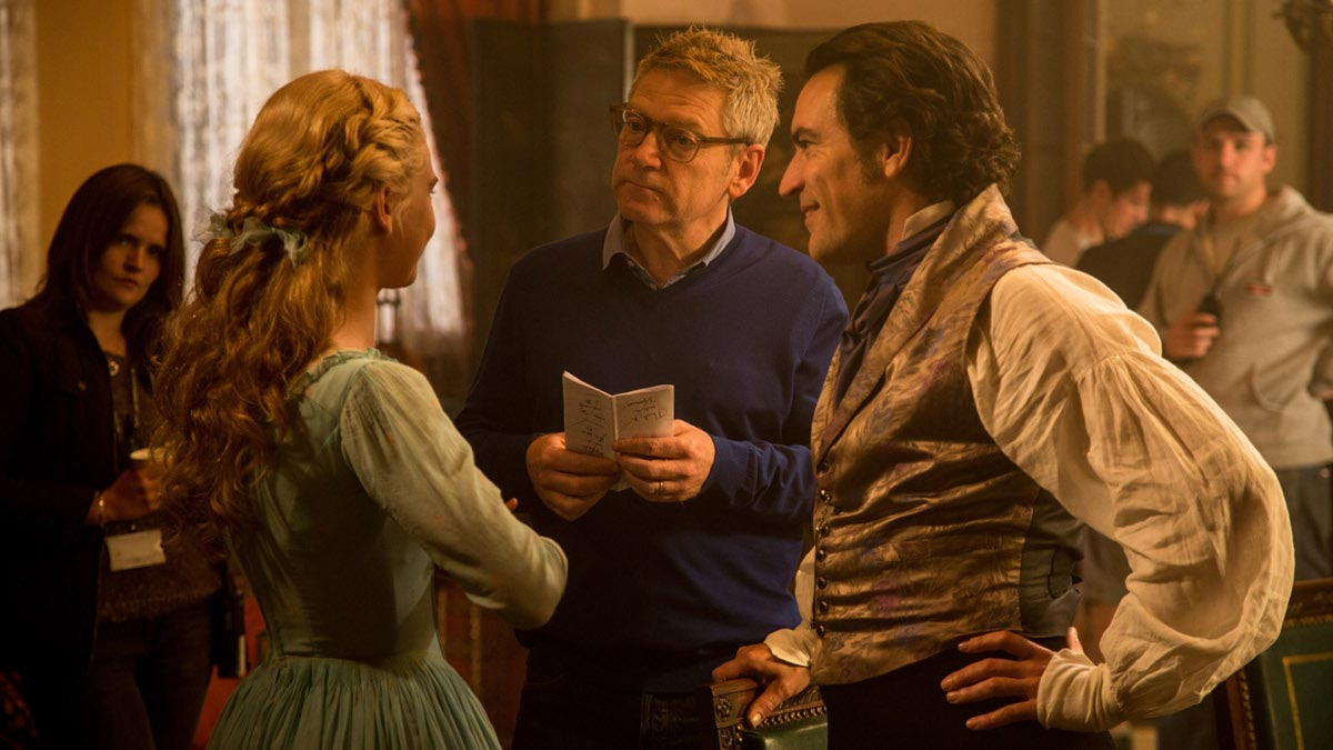 Lily James, Kenneth Branagh y Ben Chaplin