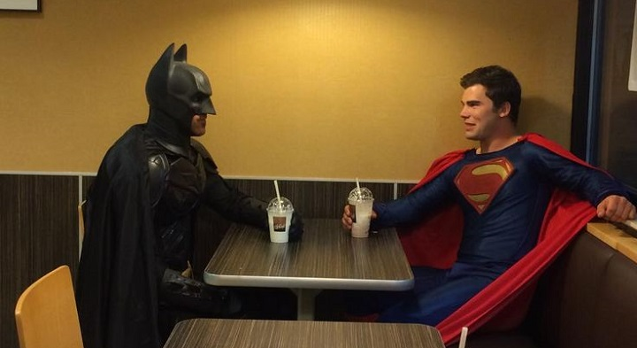 Cosplay Batman y Superman