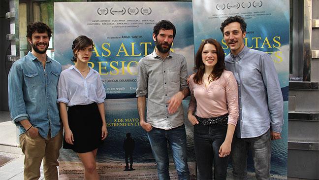Juan Blanco, Itsaso Arana, Ángel Santos, Diana Gómez y Andrés Gertrudix
